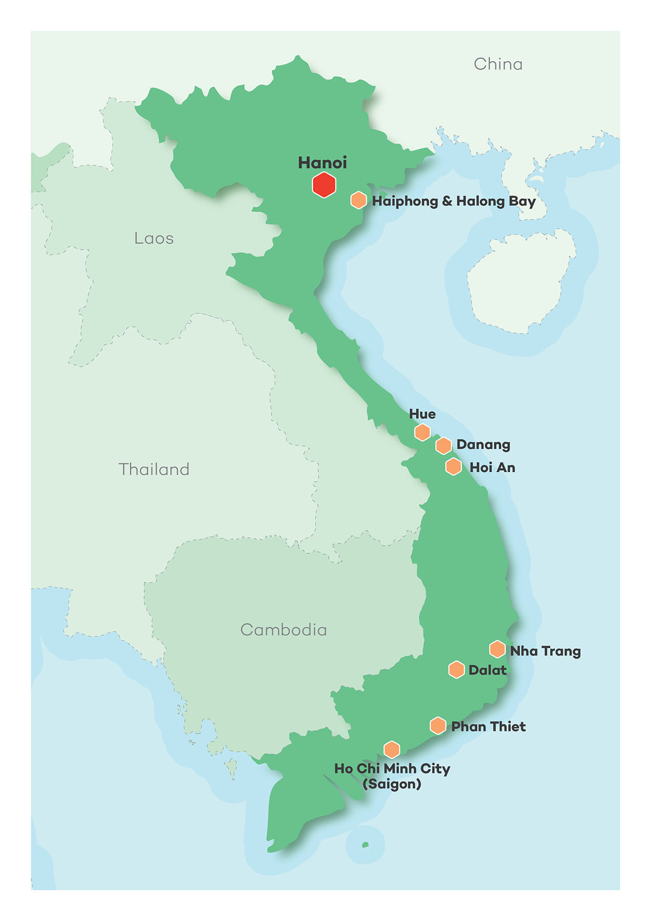 Vietnam Golf Map